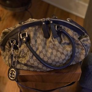 Gucci Boston Monogram Sukey Satchel Bag